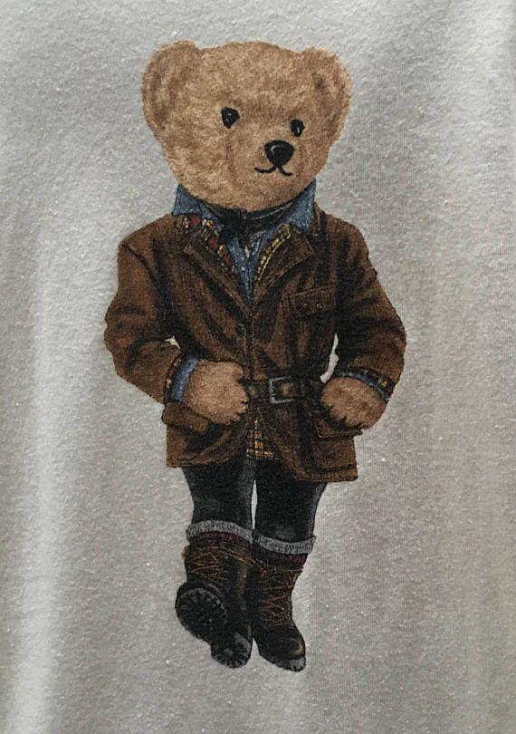 Ralph Lauren Polo Bear T Shirt Hip Hop Streetwear Preppy  eb7906908a1b