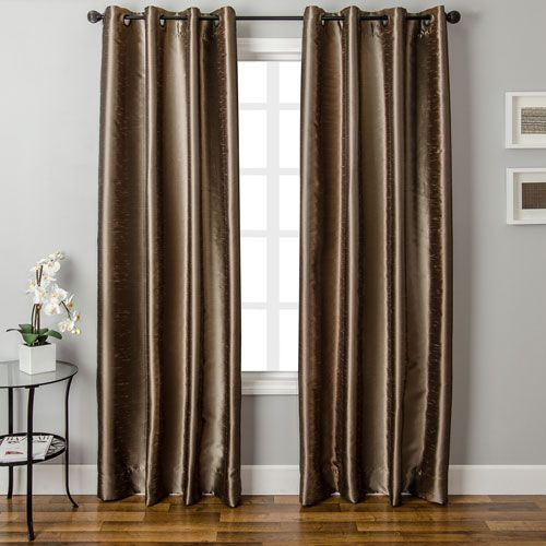 """Luxury Mid-Weight Jacquard Window Panel Pair With Grommets 38/"""" x 84/"""""""