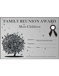 family reunion certificates oak passion 2 is a free family reunion award by the family reunion hut by eastgeneral