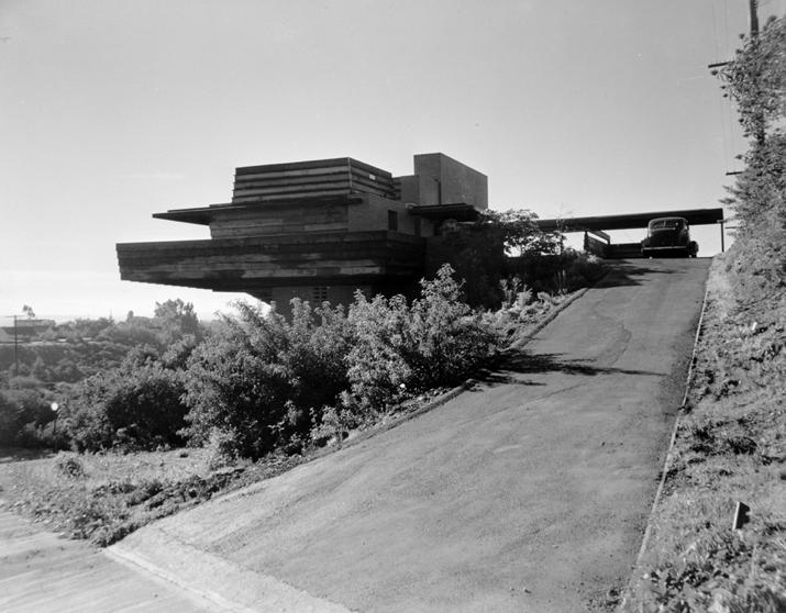 Sturges House, FLW Los Angeles, 1947.