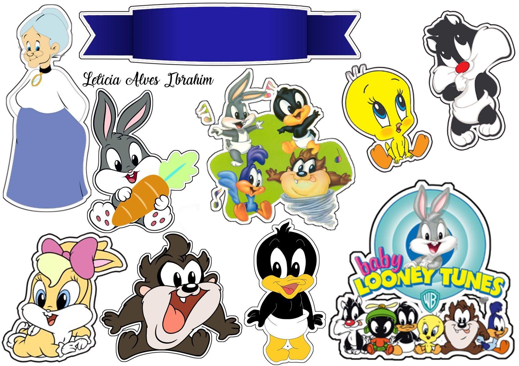 Topper Baby Lones Tunnes Com Imagens Festa Looney Tunes Bolo