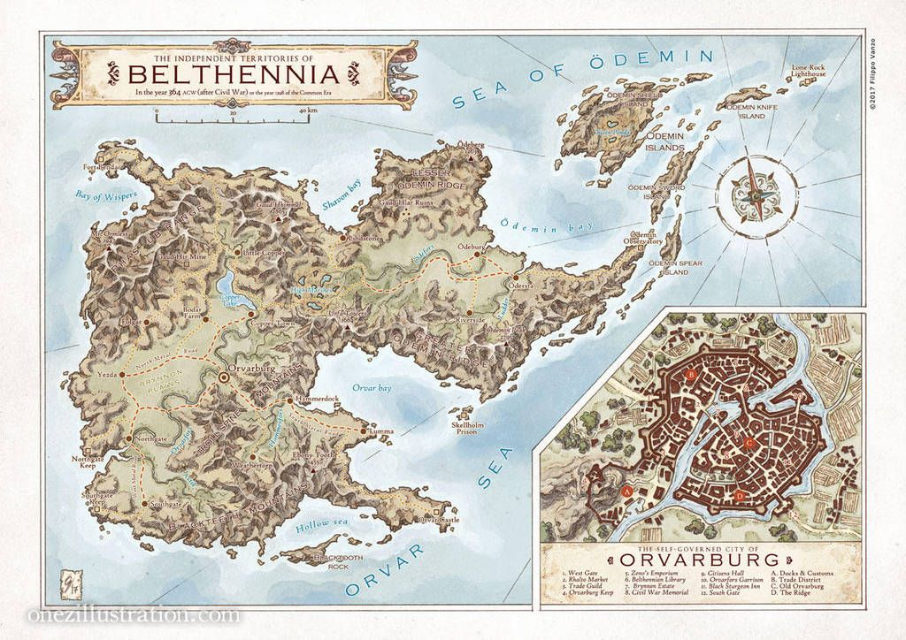 The Independent Territories Of Belthennia By Last Mapmaker Fantasy