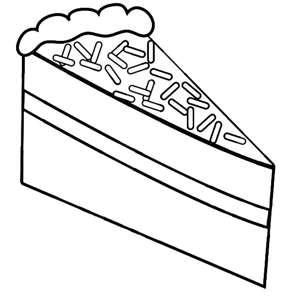 A Slice Of Chocolate Cake With Choco Sprinkles Coloring Pages Netart Coloring Pages Fruit Coloring Pages Chocolate Cake