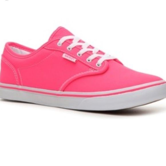 8.5 hot pink vans Worn lightly, great condition! Vans Shoes Sneakers