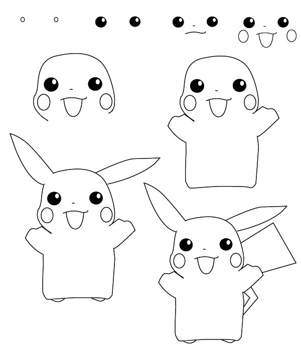 How To Draw Pokemon 3 Pokemon Drawings Pencil Drawings For Beginners Easy Drawings
