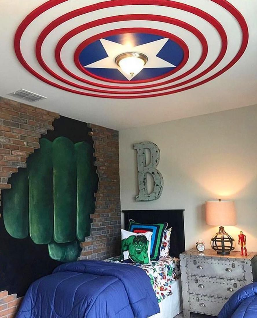50 Kids Room Ideas That Would Make You Wsh You Were A Child Again Boys Bedroom Decor Marvel Bedroom Marvel Room