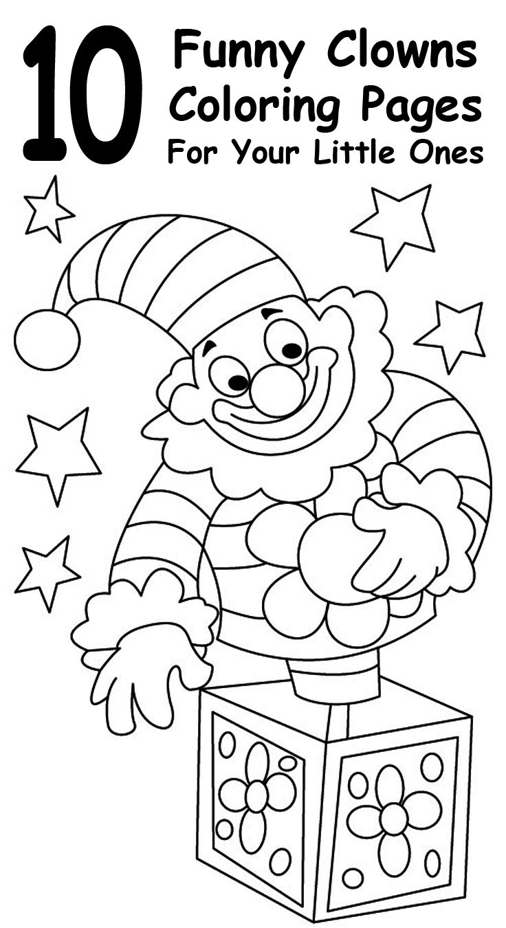 Top 10 Free Printable Funny Clown Coloring Pages Online | Coloring ...