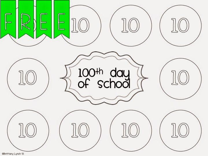 Tickled Pink In Primary Kindergarten Freebies 100 Days