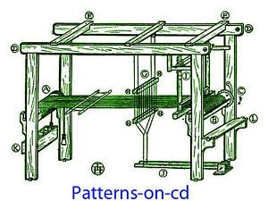 Details about 1900s HOW TO Build FLOOR LOOM PLANS & HAND