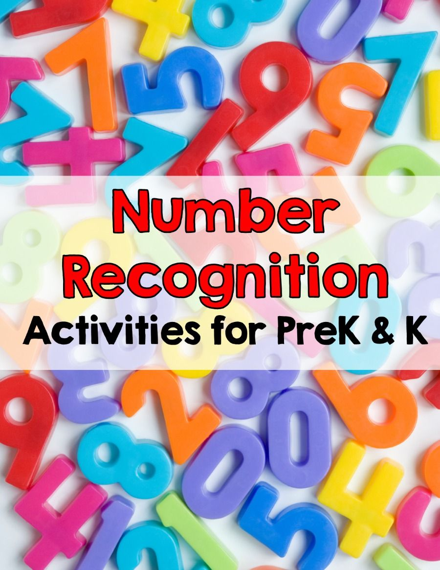 Number Recognition Number recognition activities
