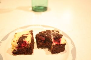 Brownie cheesecake slice and remembering
