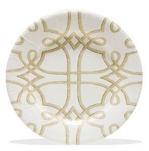 garden trellis dessert plates 8/pk