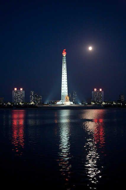 Pyongyang's brightest lit spot.