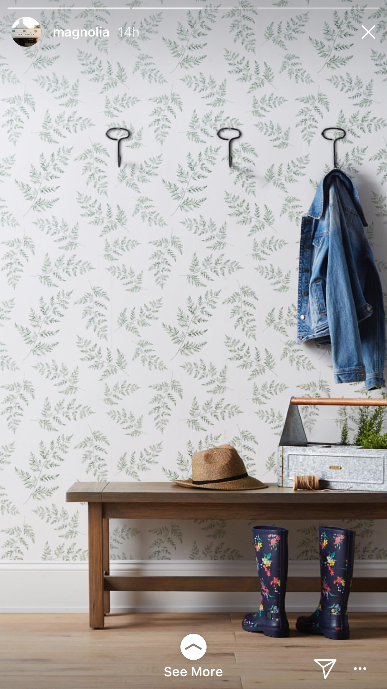 Magnolia love this wallpaper Joanna gaines, Kids rugs