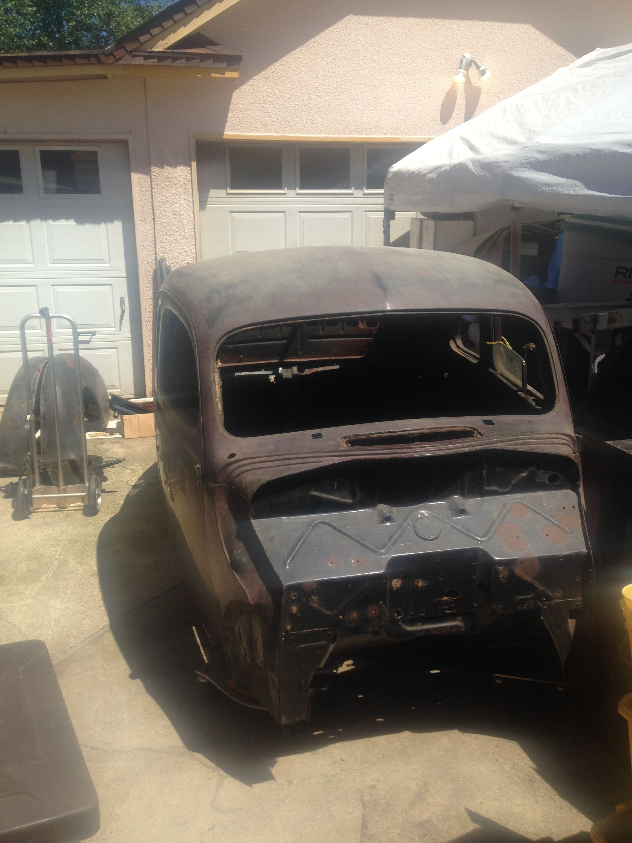 1940 Ford Coupe body off frame.