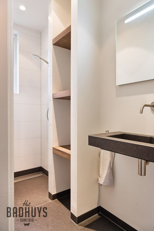 Smalle praktische badkamer het badhuys breda badkamer