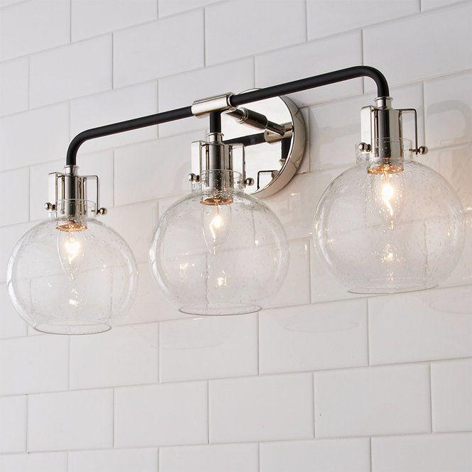 Photo of Hinley Seeded Glass Vanity Light – 3 Light