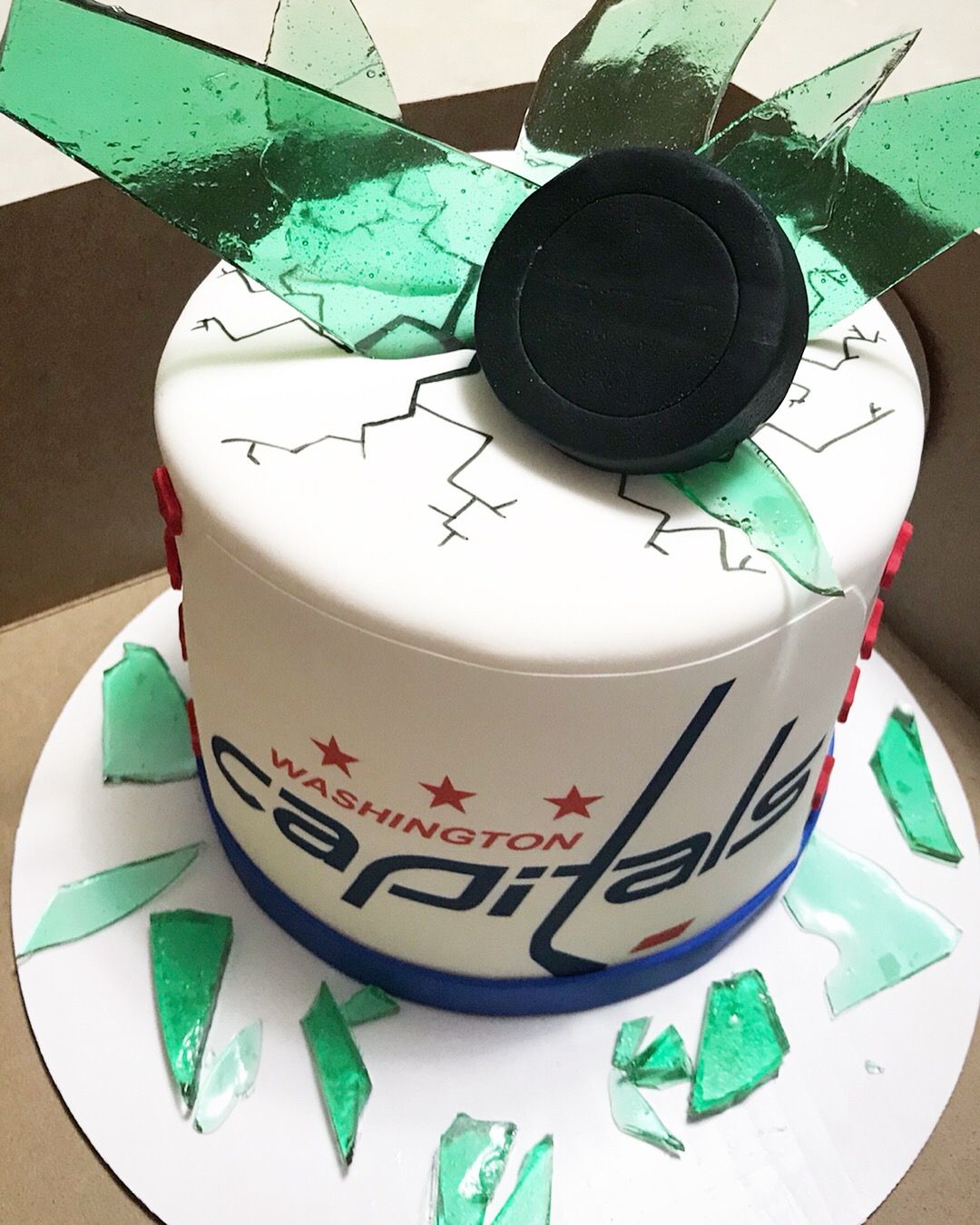 Caps Cake Washington Capitals Hockey Cake Birthday Cake