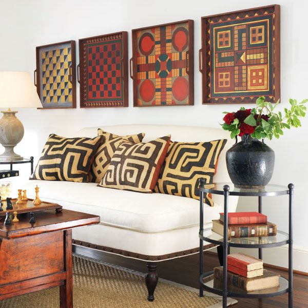 Home Design Ideas Game: Folk Art Gameboard Display In A Room With A Touch Of