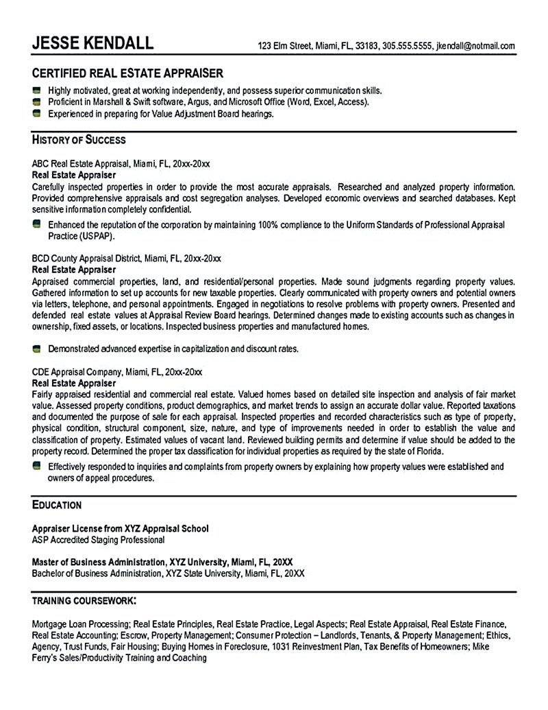 Real Estate Resume Is Commonly Used For Professional Who Have Experience And Knowledge Related To The Market O Good Objective For Resume Resume Resume Examples