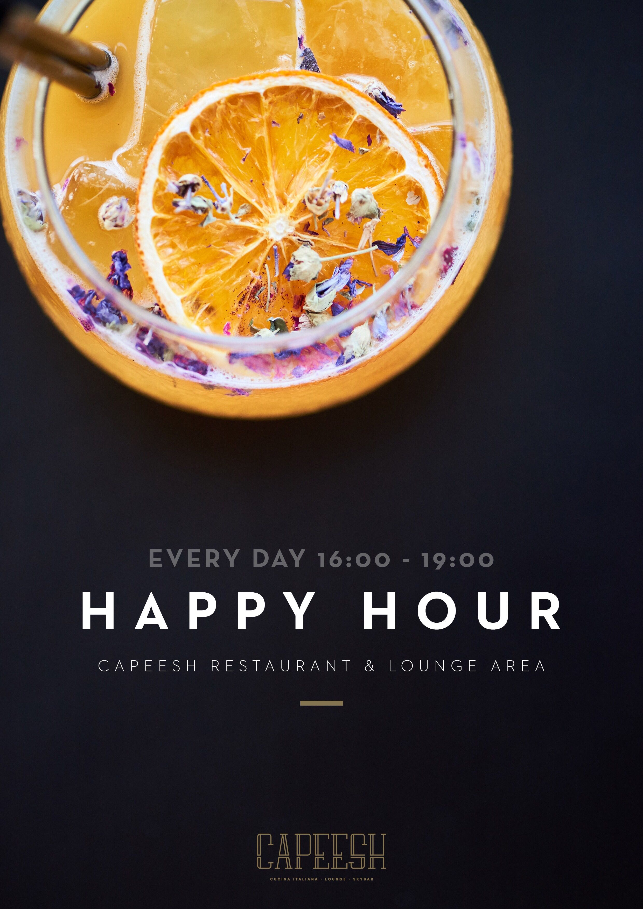 Restaurant Cucina Agen Our Happy Hour Special For Our Lounge Area And Capeesh Restaurant