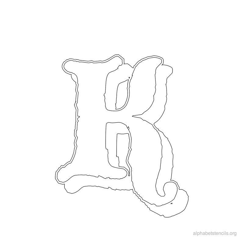 Print Free Alphabet Stencils Old English K (With images ... Old English Numbers Printable Free