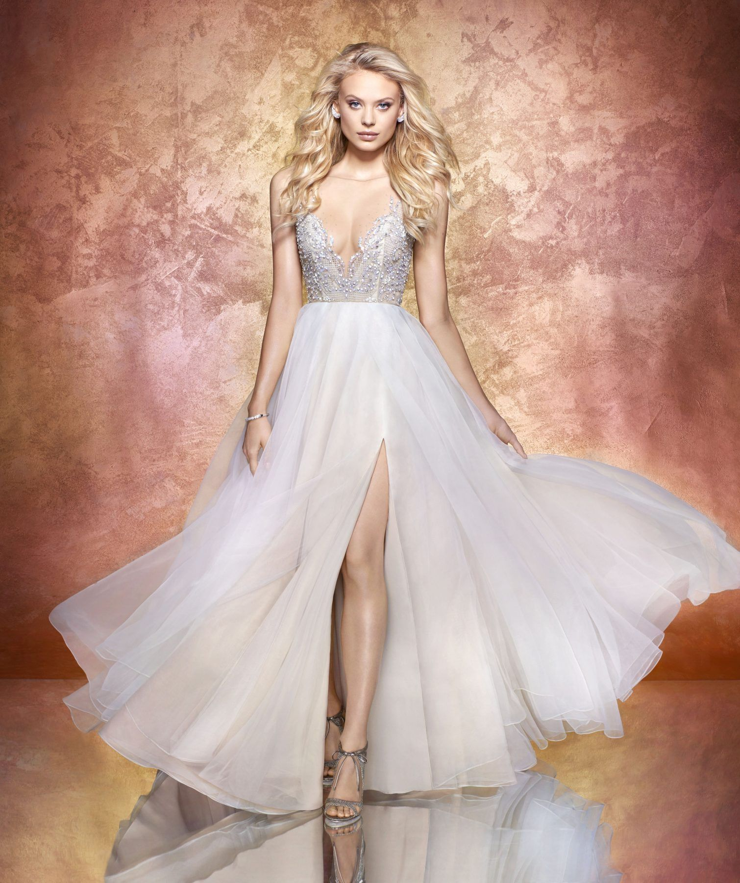 a3d91c0f633b Trendy A-line Wedding Dress by Hayley Paige - Image 1 zoomed in ...