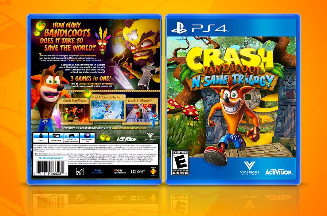 FANART Crash NSane Trilogy Fan Cover Art (PS4) by Joao