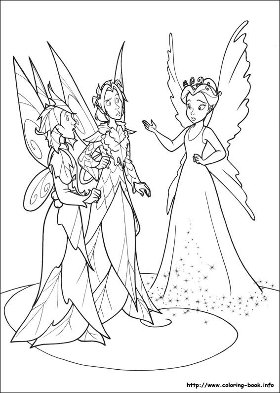 pixiehollow coloring pages - photo#8