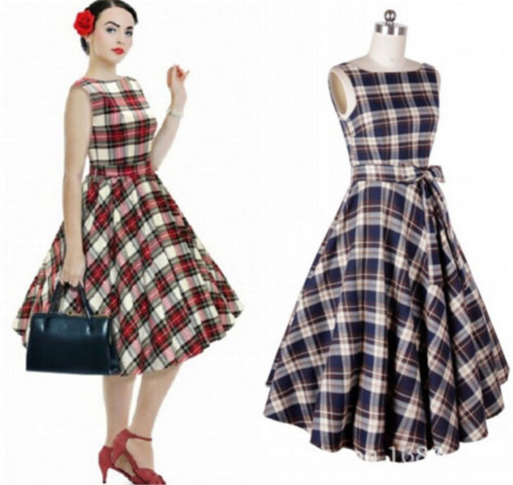Retro vintage us pinup rockabilly dress housewife swing evening