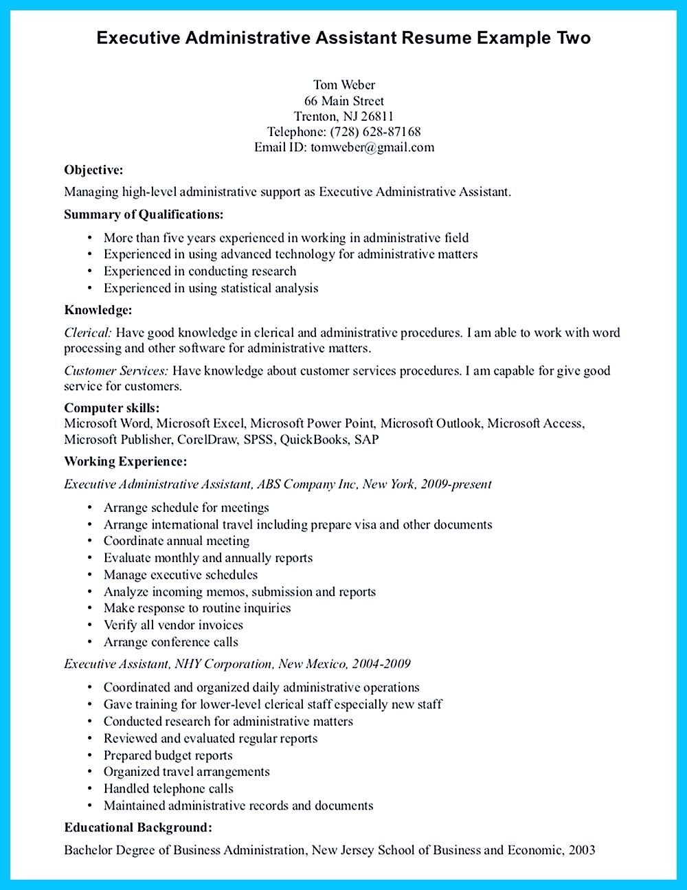 Sample Executive Assistant Resume In Writing Entry Level Administrative Assistant Resume You Need