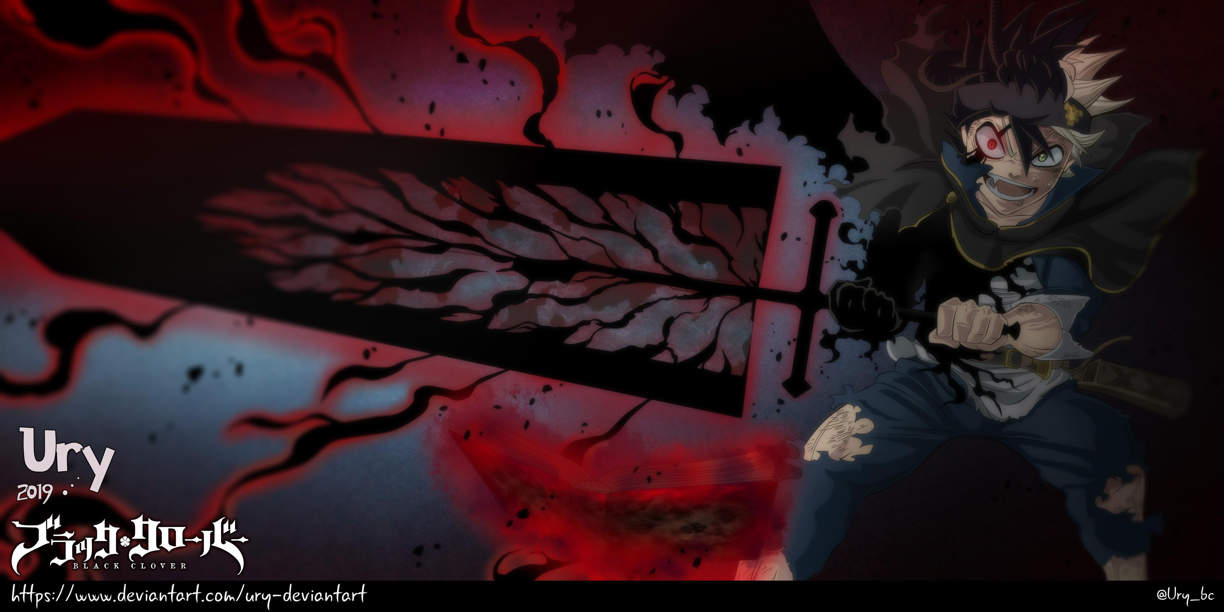 Black Clover 208 Asta Black Divider By Ury Deviantart On Deviantart Black Clover Anime Clover Digital Artist