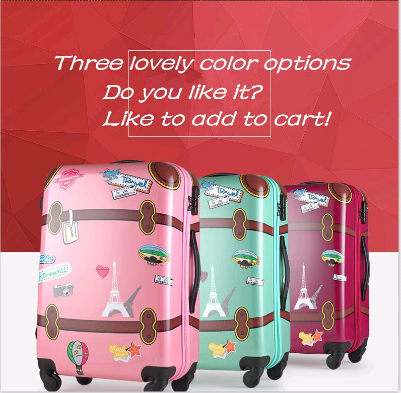 Aliexpress.com : Buy Cute cartoon series travel child suitcase for ...