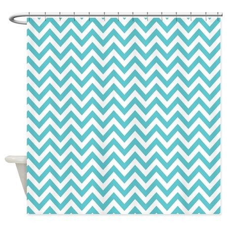 Turquoise and White Chevron Shower CurtainTurquoise and White Chevron Shower Curtain   Turquoise  Striped  . Turquoise Chevron Shower Curtain. Home Design Ideas