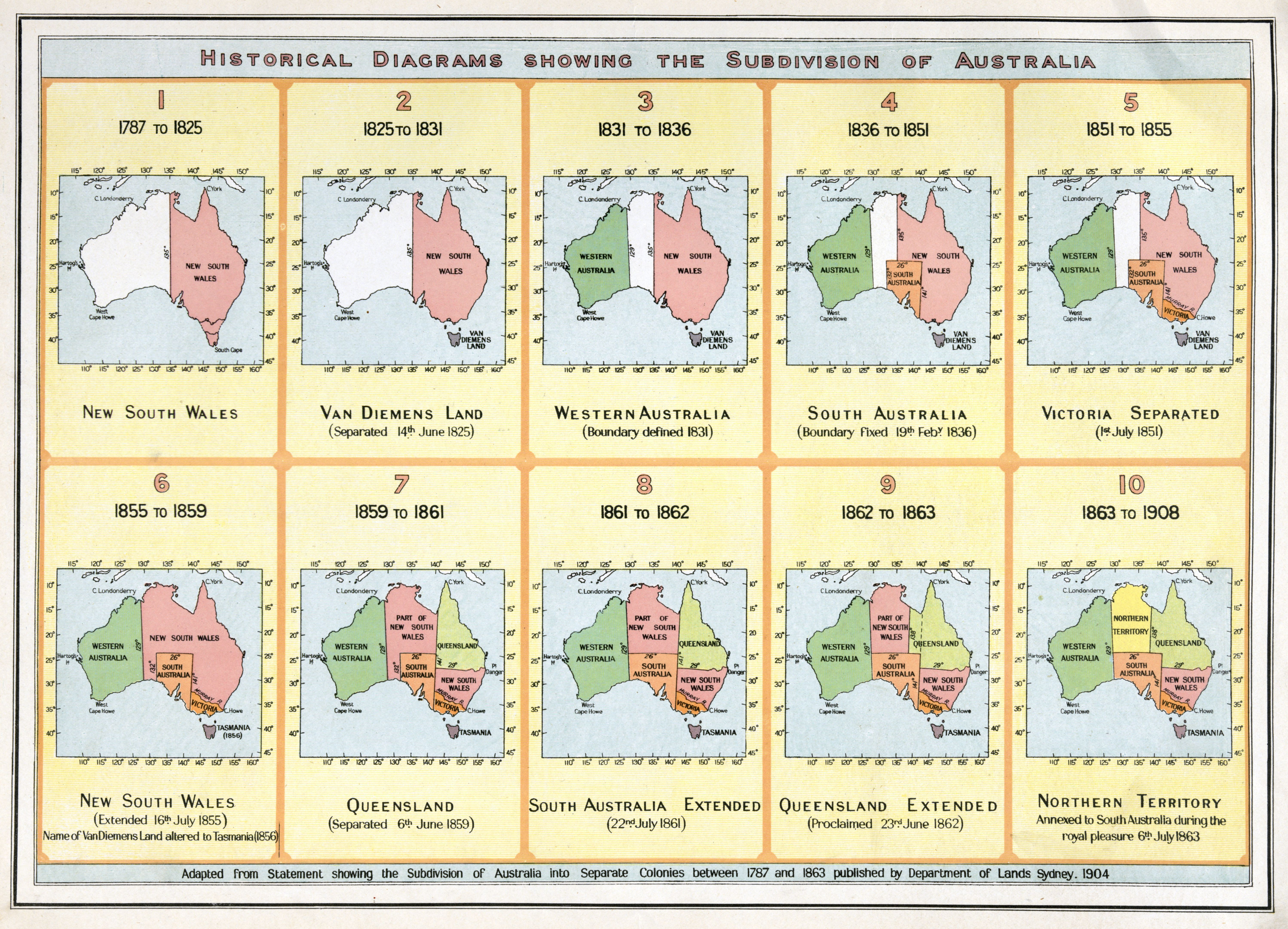 Maps Showing The Various Subdivisions Of Australia From