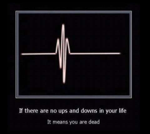 you need the ups and downs