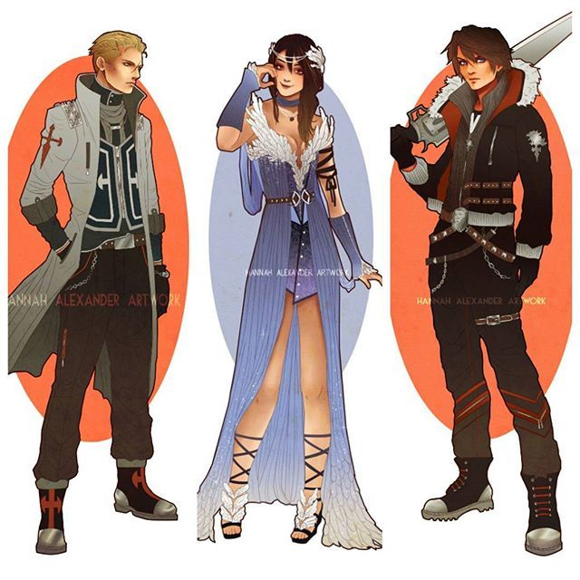 hannah_alexander_artwork: These three are my baes. Personally I'm Team Seifer…