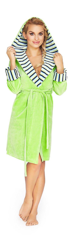 peignoir robe de chambre en coton doux avec ceinture et capuche femme mi long. Black Bedroom Furniture Sets. Home Design Ideas