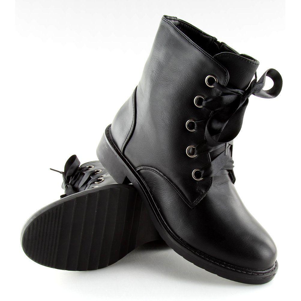 9901d436cfc79 Workery damskie glany czarne CH-3 Black | Botki damskie | Shoes, Tap ...