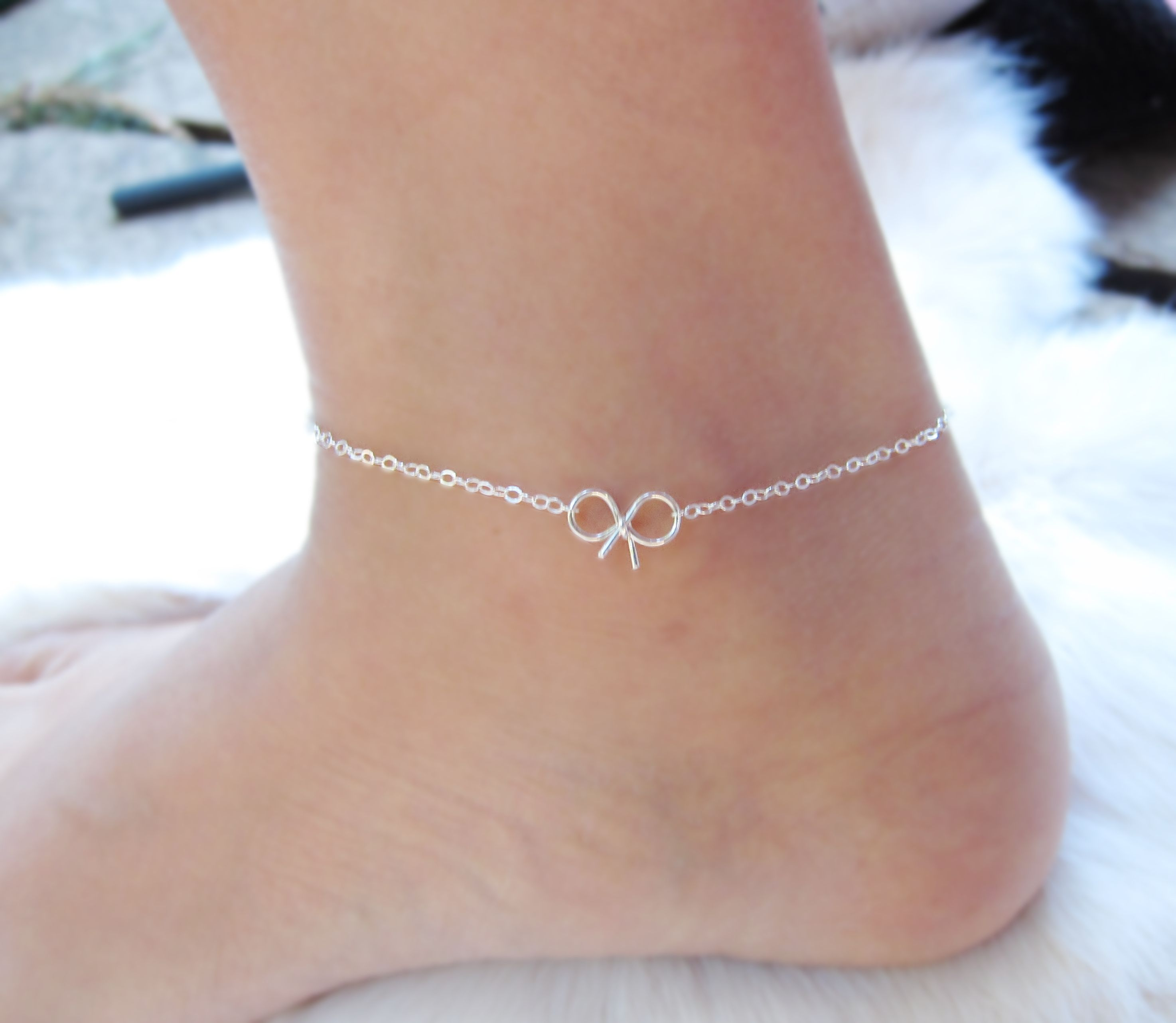 ankle delicate bracelets anklet simple diy