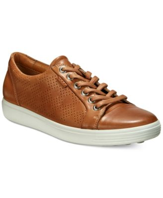 ECCO Soft 7 Suede Leather Lace Up Sneakers