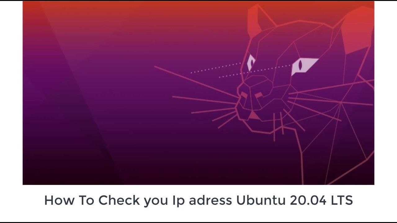 How to check your ip address in ubuntu linux 2004 lts in