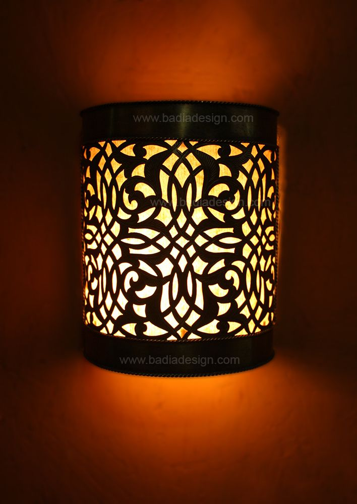 Moroccan Brass Wall Lights : Brass Half Cylinder Wall Sconce Lighting Fixture - WL017 Wall sconces, Moroccan room and Walls