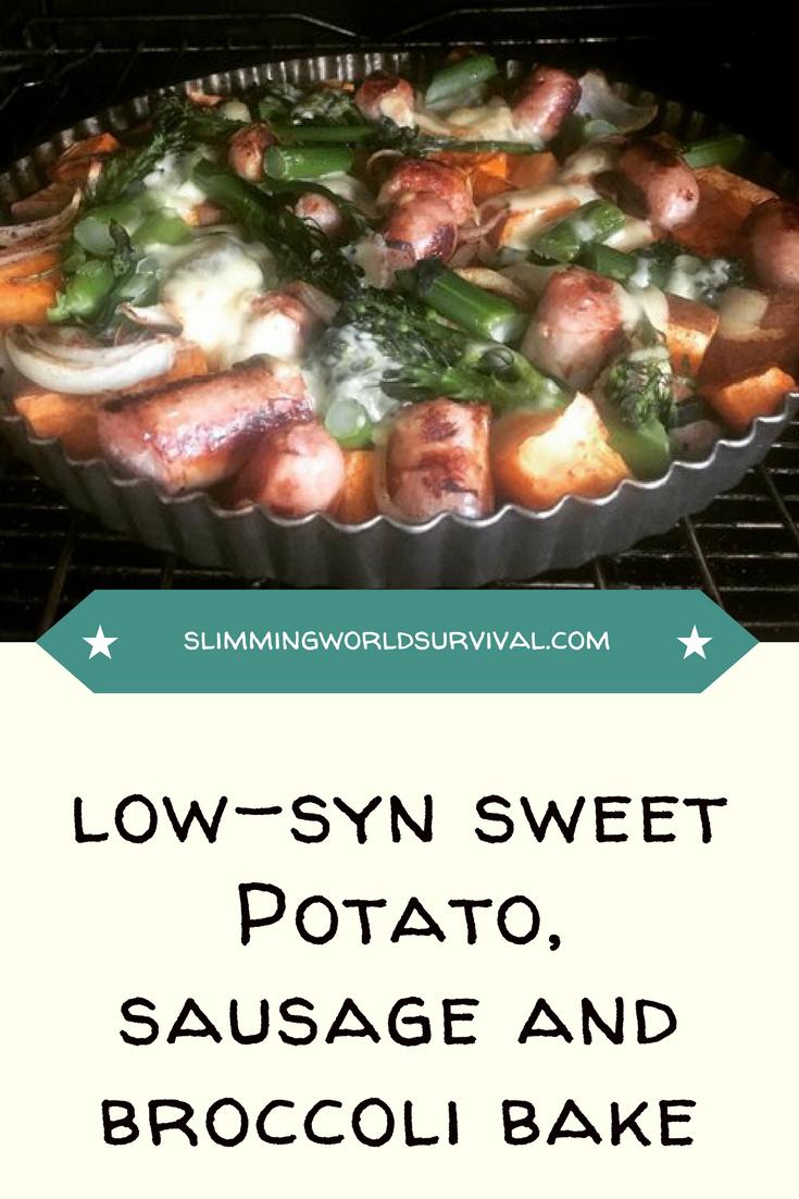 Sweet Potato, Broccoli and Sausage Bake
