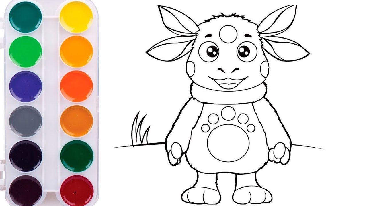 Как нарисовать Лунтика Мультик раскраска Лунтик для детей ...