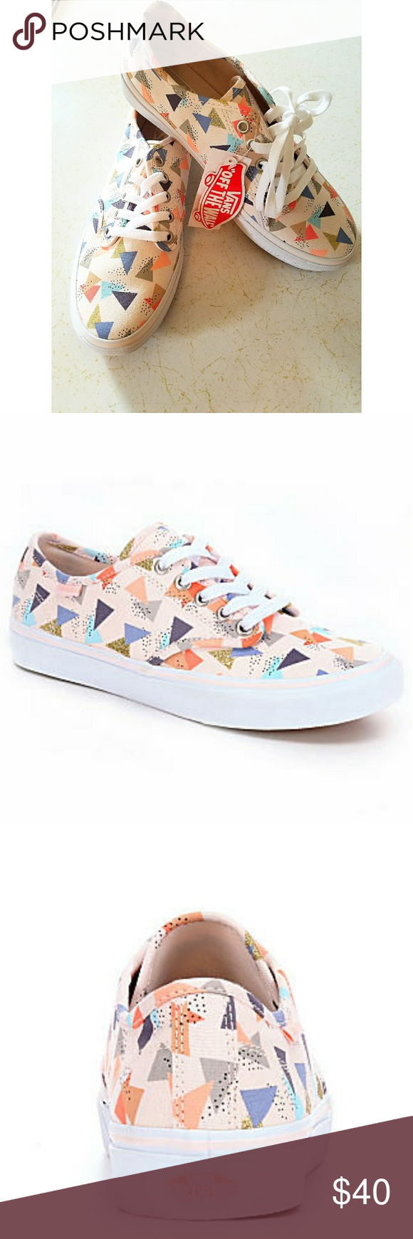 1cf75dff6e254a Vans Camden Stripe low-top off-white multicolor These lace up low-top skate  shoes show off a cool-casual style. Perfect for the skate park or running  around ...