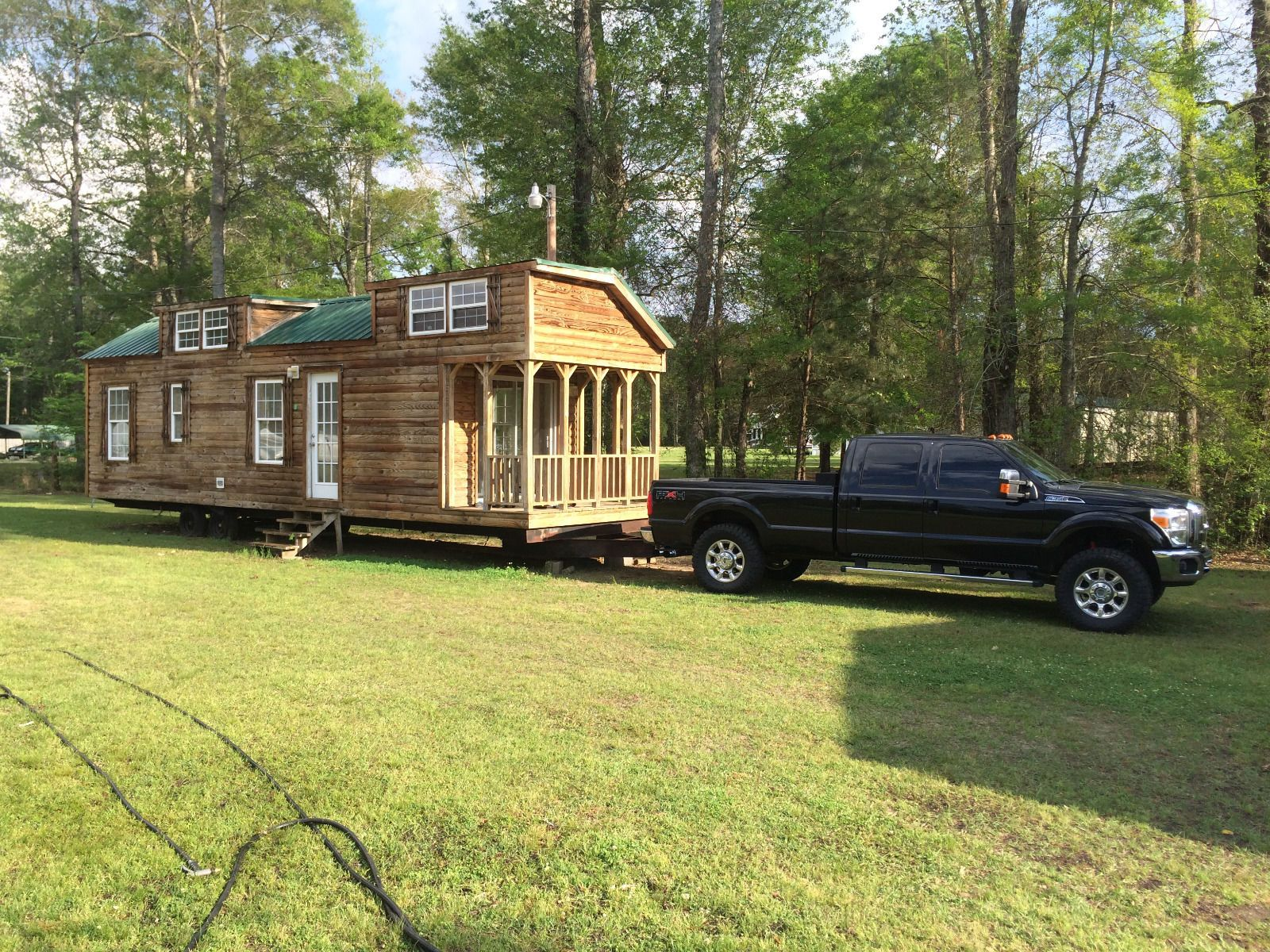 10x38 Tiny House Shell Park Model RV Trailer Log Cabin