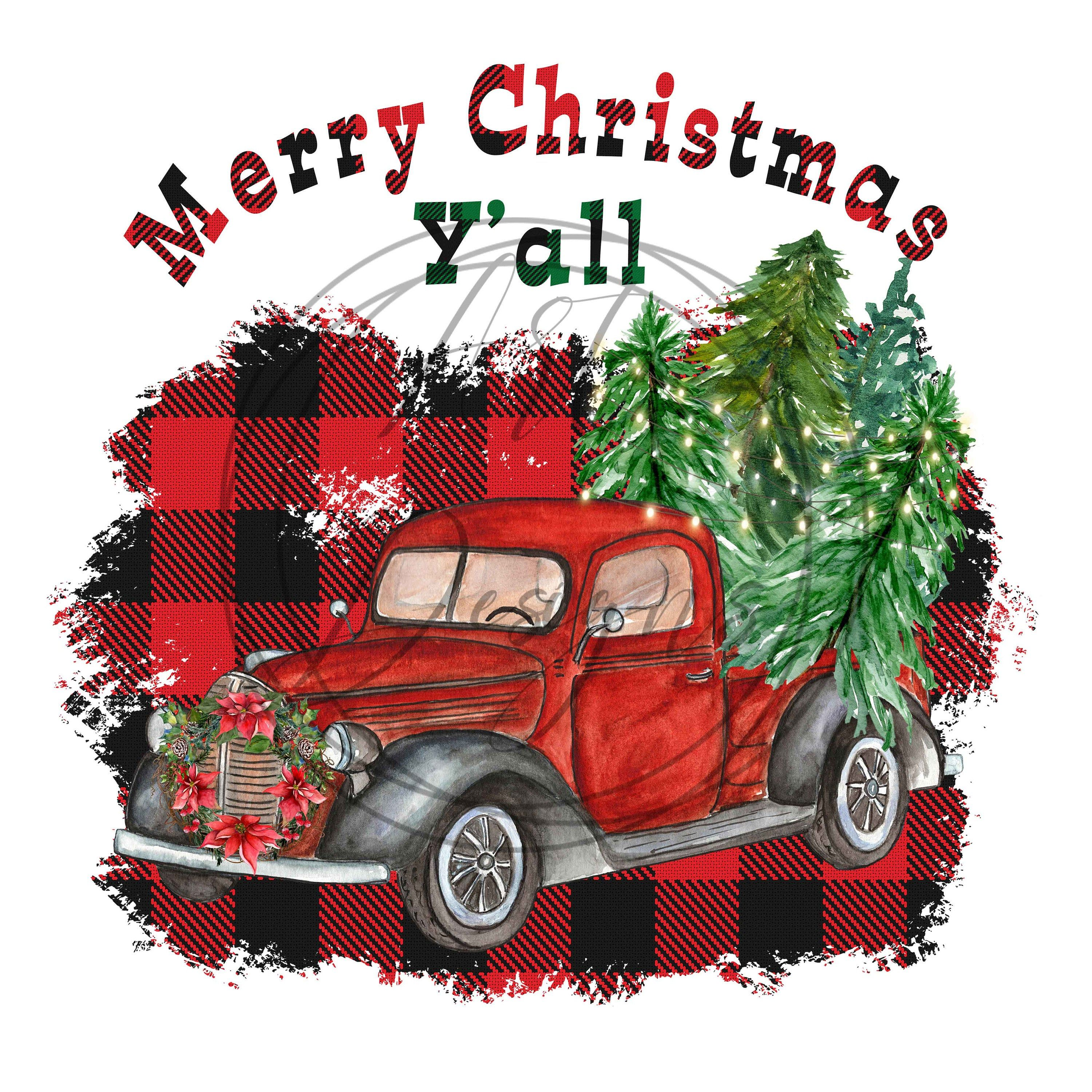 Merry Christmas Tree Truck Holiday Decals Christmas Truck Decal