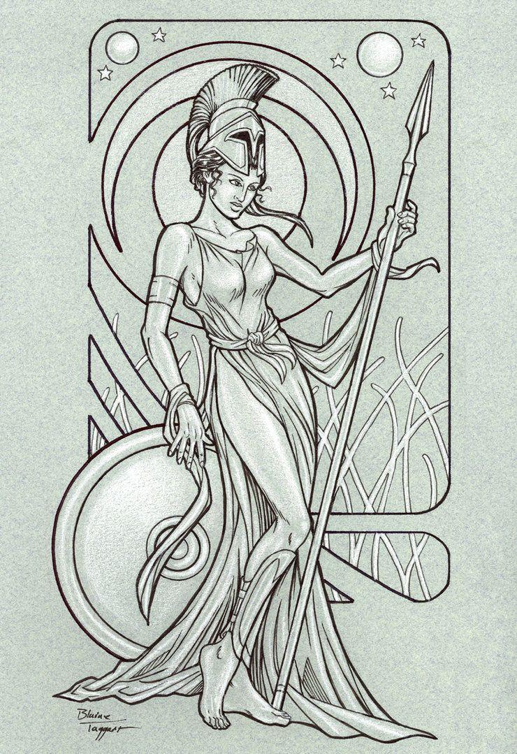 Athena by *staino on deviantART