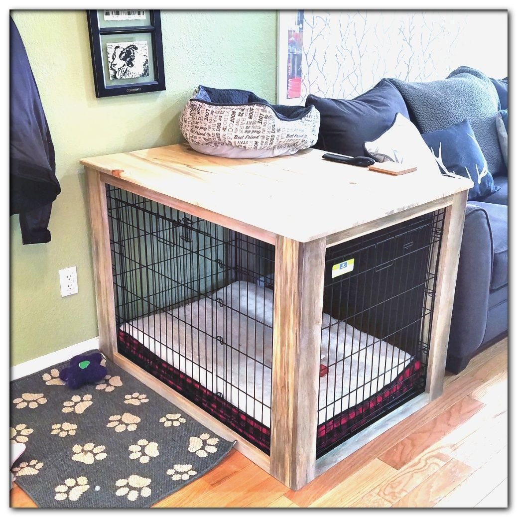 Dog Crate Table In 2021 Dog Crate Cover Dog Crate Table Dog Crate